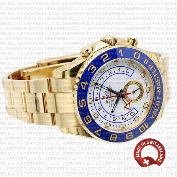 Rolex Yacht-Master II Yellow Gold White Dial Best Rolex Clone Watch