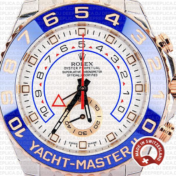 Rolex Yacht-Master II Two-Tone White Dial High Quality Replica Watch