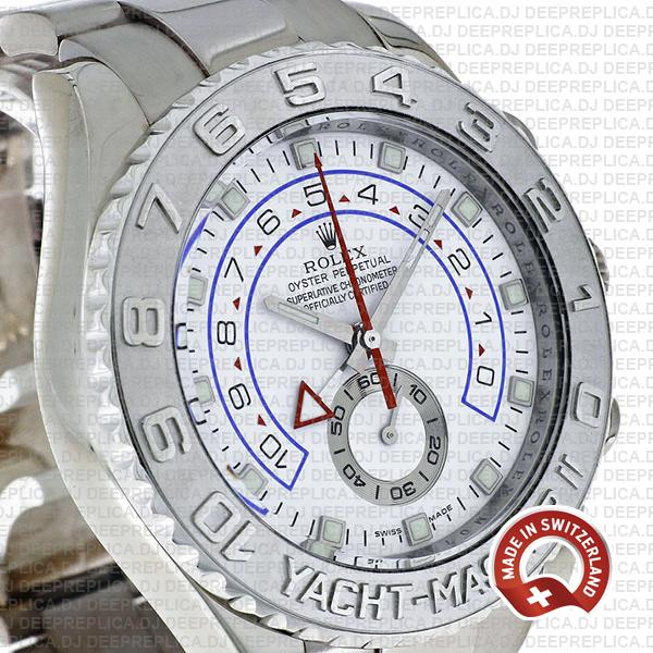 Rolex Yacht-Master II Stainless Steel 18k White Gold White Dial 44mm