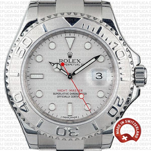 Rolex Yacht-Master II 904L Stainless Steel Platinum Silver Dial with 904L Steel Oyster Bracelet Watch