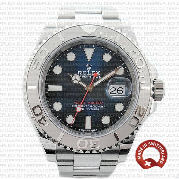 Rolex Yacht-Master Blue Dial Best Swiss Made Replica Watch
