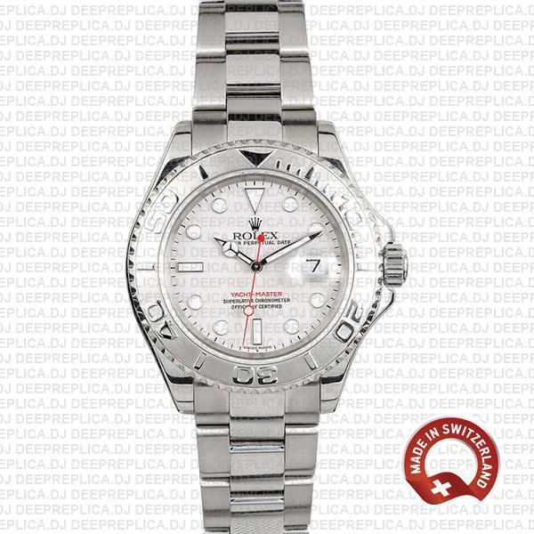 Rolex Yacht-Master II Silver Dial Platinum Rolex Replica Watch